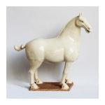 White Ceramic Ming Horse