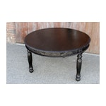 Ebony Anglo Indian Round Carved Table