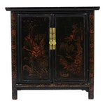 Antique Chinese Polychrome Cabinet