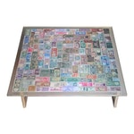 """""""The Color of Money"""" Collage Coffee Table"""