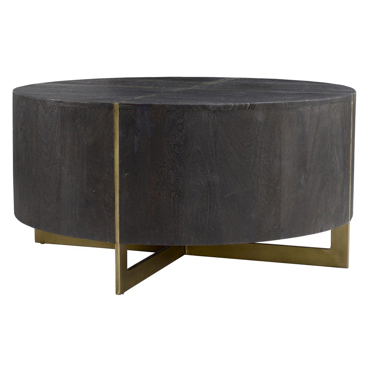 - The Desmond Round End Table Espresso The Find Boutique