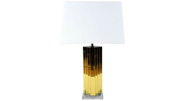 We Are Smitten With Our Modern Brass And Lucite Table Lamp!