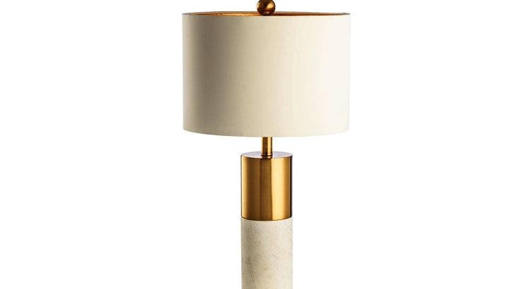 Fall In Love With Our Marble and Gold Table Lamp!