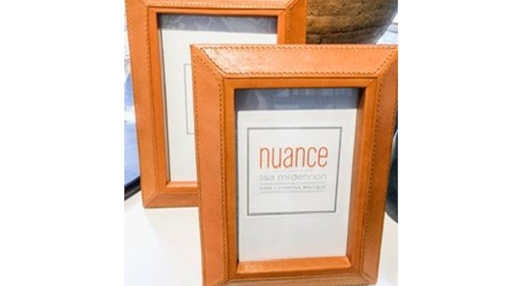 Don't Miss Out On Our Cognac Leather Picture Frame!