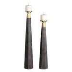 PONS CANDLEHOLDERS, S/2