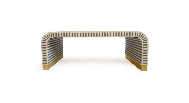 Presenting The Inlay Striped Waterfall Coffee Table!
