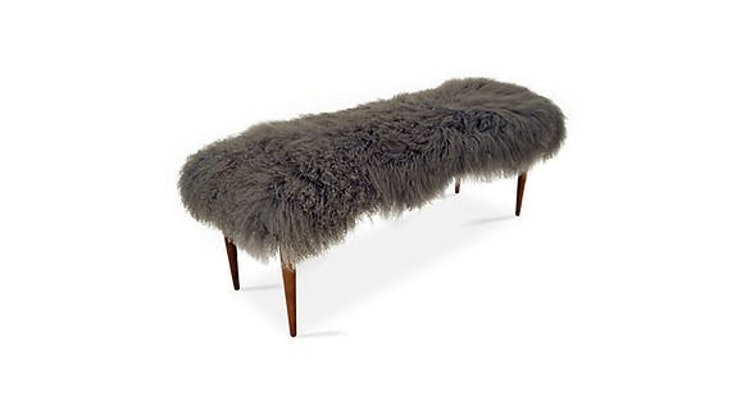 It's Freezing Out There, Stay Cozy With Our Curly Lamb Bench!
