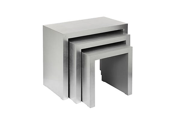 Our Silver Nesting Tables Are Fabulous!
