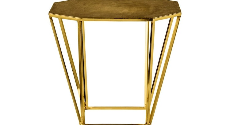 The Gold Pentagonal Table Is Drool Worthy!