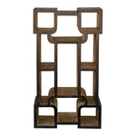 Chosovi Aged Black and Antique Silver Multi-functional Etagere