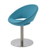 Crescent Round Chair, Stainless Steel Base