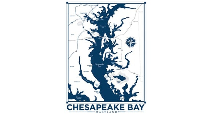 If You Live on the Chesapeake Bay, You Need This! Our Chesapeake Bay Map Art Print!