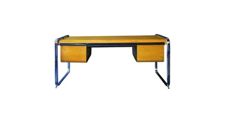Now This is Special! Vintage Zebra wood desk by Peter Protzman!
