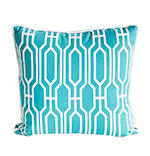 Aqua Deco Pillow