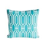 Aqua Deco Pillow