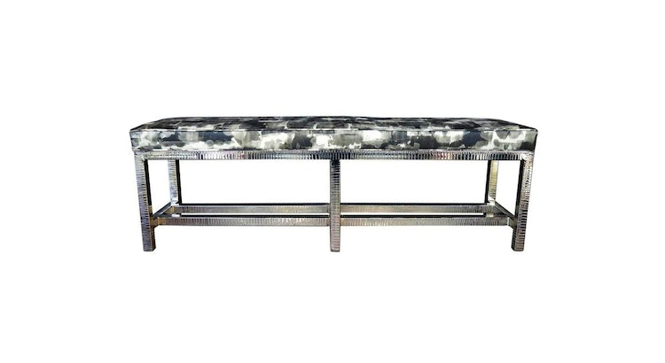 This Nickel Plated Bench With Leather Seat Is A Must Have!