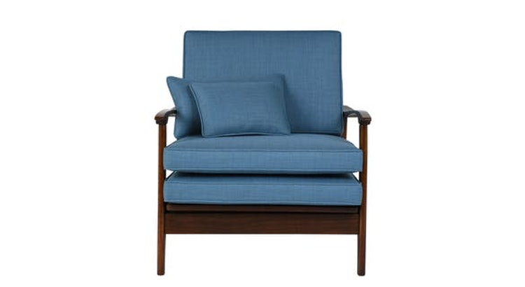 Our Mid Century Modern Lounge Chair Is The Perfect Shade Of Blue!