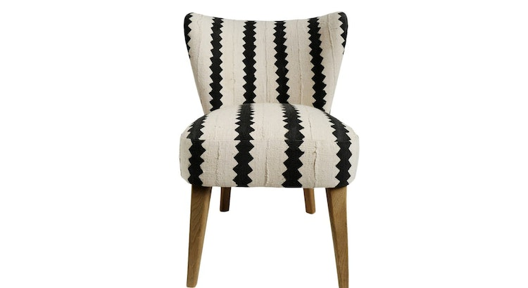 The Vintage Striped Mud Cloth Accent Chair Is Our Pick of The Week!