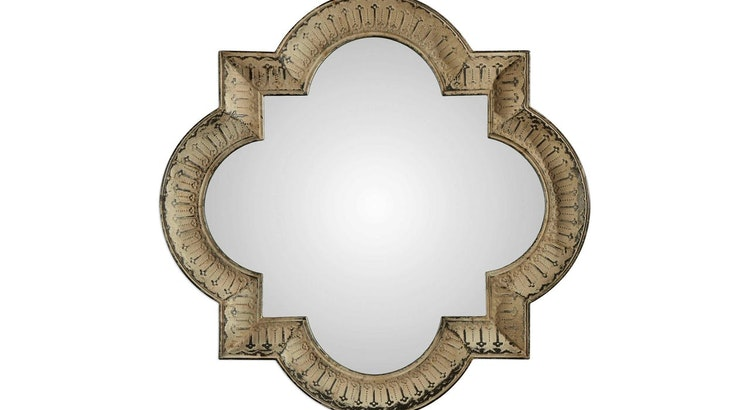 We Are Smitten With The Quatrefoil Mirror!