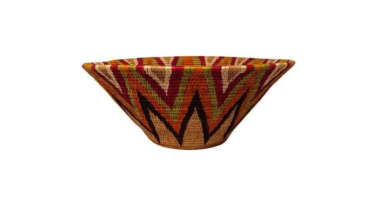 The Coiled African Tribal Basket Will Add Color To Your Home!