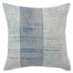 Stripe Blue & White Throw Pillow