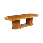 Modern French Burled Pedestal Dining Table