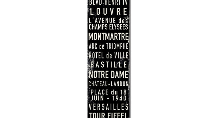 Check Out The Paris Trolley Sign!