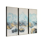 Crashing Waves Hand Painted Canvas [Set Of 3]