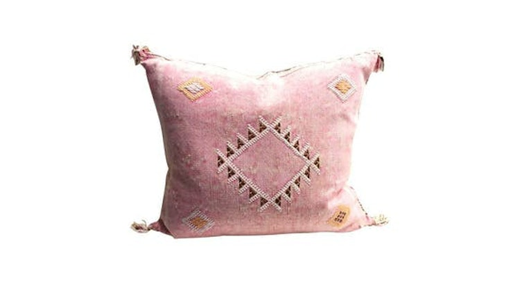 We LOVE the Pink Cactus Silk Sabra Pillow! You Will Too!