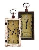 Rectangular Wood Assorted Black and White Wall Clocks