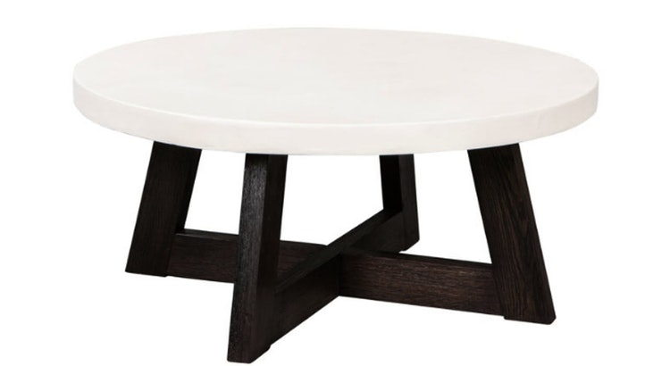 The White Concrete Coffee Table Is Awesome!
