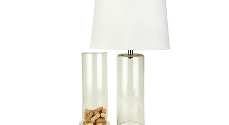 We Love The Fillable Cylinder Table Lamp!