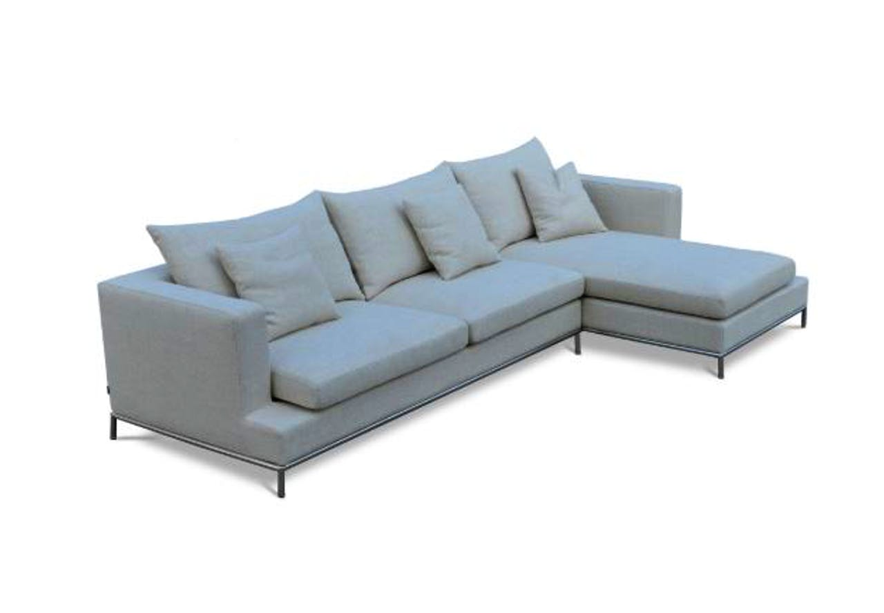 Simena Cream Tweed Sectional Sofa Sohoconcept Boutique
