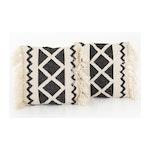 "Stavros Grey Cross-Woven Pillow Set - Square (20""X20"")"