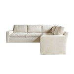 The Ricko Sectional In Cream Chenille