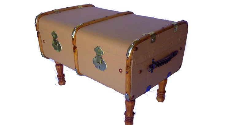 Check Out Our Vintage European Outer Rib Trunk Coffee Table!