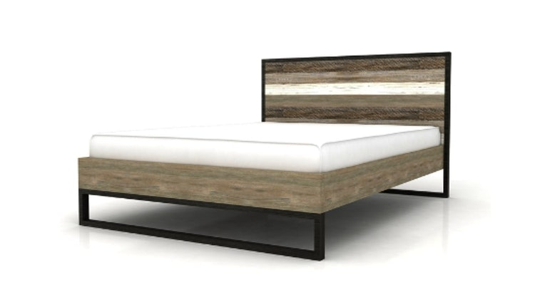 Enjoy The Sophisticated Rustic Vibe Of The Sand Pebbles Queen Size Bed!