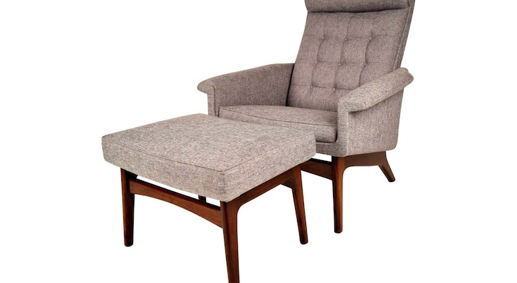 Presenting The Vintage 1960's Jensen Lounge Chair with Ottoman
