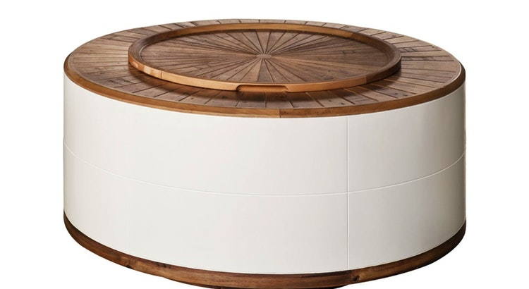 Stylishly Stash Your Clutter With The Sun Coffee Table With Storage!