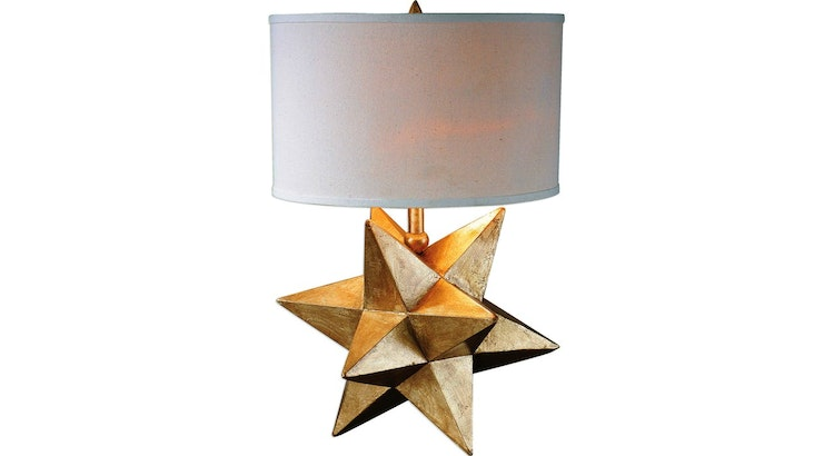 Say Hello To Our Captivating Gold Lamp!