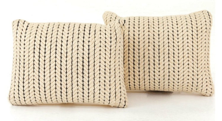 We Love The Abena Rope Weave Pillow Set!