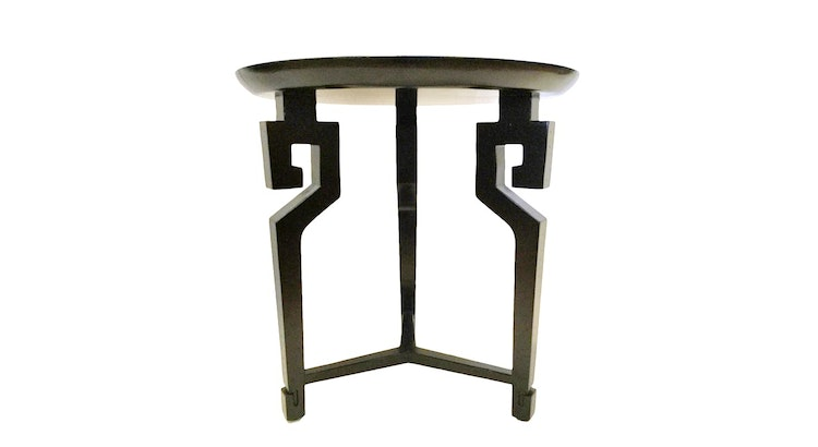 Introducing The Mid-Century Modern Black Lacquered Side Table!