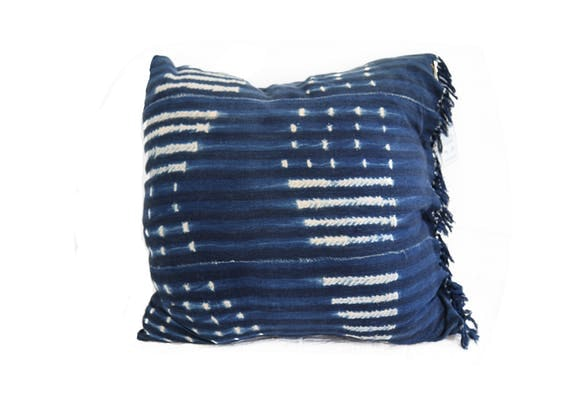 Fall in Love With Our Denim African Mud Cloth Pillow