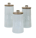 Wooden Top Canisters
