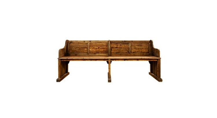 Don't Miss Out On Our Vintage Barnwood Westminster Bench!