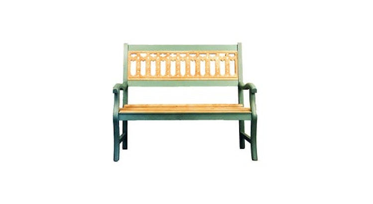 Our Painted Wood Bench Is Adorable!
