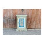 Moorish Blue Carved Cabinet