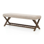 The Elise 59″ Bench in Stone Beige