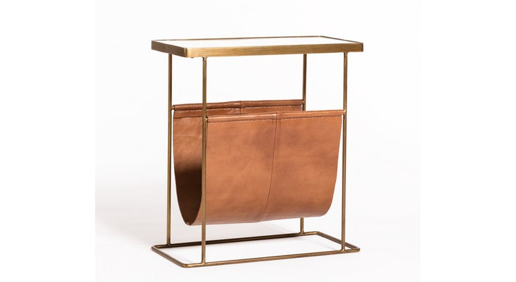Fabulous and Multifunctional, The Leather Sling Accent Table Is A Must Have!