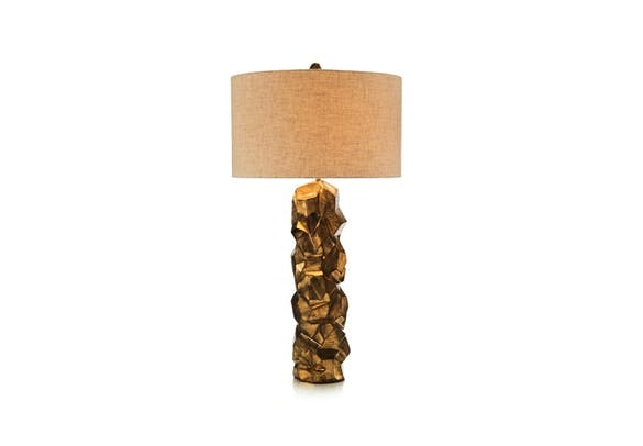 Palm Desert Style File:  Say Hello to the Faux Pyrite Gold Table Lamp